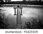 romantic pond - stock photo