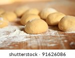 preparations in the kitchen for ... | Shutterstock . vector #91626086