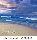 Storm Coming   Sandy Beach Wit...