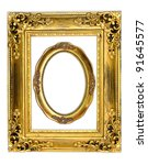 the old antique gold frame on... | Shutterstock . vector #91645577