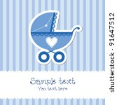 bright baby boy card | Shutterstock .eps vector #91647512