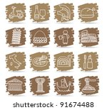 brown brush series   italy... | Shutterstock .eps vector #91674488