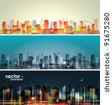 city landscape | Shutterstock .eps vector #91675280