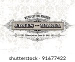 vector distressed vintage frame ... | Shutterstock .eps vector #91677422