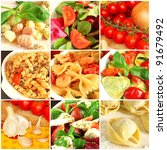 traditional italian food collage | Shutterstock . vector #91679492