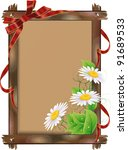 frame with flowers | Shutterstock .eps vector #91689533