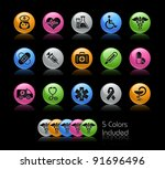 medical icon set    the file...   Shutterstock .eps vector #91696496