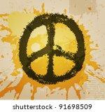 illustration of peace sign | Shutterstock .eps vector #91698509