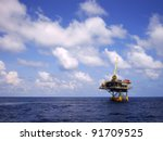 offshore production platform in ... | Shutterstock . vector #91709525