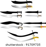 swords and sabers | Shutterstock .eps vector #91709735