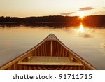 Bow Of Cedar Canoe On A...