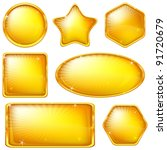 Set Of Web Buttons Of Gold ...