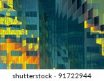 very abstract view of a building | Shutterstock . vector #91722944