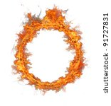 Fire Ring Isolated On White...