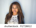 close up of an african american ... | Shutterstock . vector #91728812