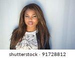 close up of an african american ... | Shutterstock . vector #91728812