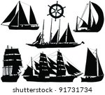 Ships Silhouettes Collection...