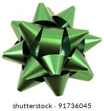 Green Christmas Bow Isolated On ...
