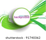 abstract colorful circle banner ...   Shutterstock .eps vector #91740362