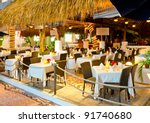 interior of caribbean mexican... | Shutterstock . vector #91740680