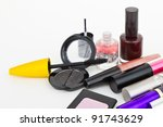 makeup collection on white... | Shutterstock . vector #91743629