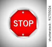 Illustration Of Stop Board On...