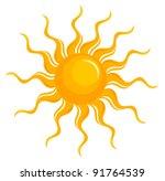 fantasy sun over white. vector... | Shutterstock .eps vector #91764539