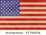 american flag drawn on the... | Shutterstock . vector #91766936