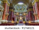 saint stephen basilica interior ... | Shutterstock . vector #91768121