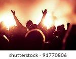 cheering crowd at concert | Shutterstock . vector #91770806