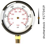 a pressure gauge with a... | Shutterstock . vector #91773419