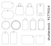set of labels and tags ... | Shutterstock . vector #91779314