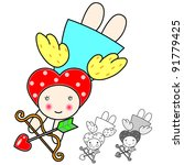 velantine angel | Shutterstock .eps vector #91779425
