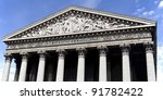 Detail of the Madeleine Church in Paris - stock photo
