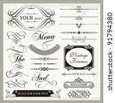 vector set of vintage... | Shutterstock .eps vector #91794380