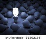 eco energy saving light bulb ... | Shutterstock . vector #91802195
