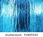 Blue glass closeup. - stock photo