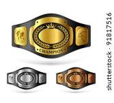 champion belt. vector. | Shutterstock .eps vector #91817516