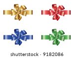 gift ribbon   gradient only | Shutterstock .eps vector #9182086