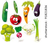 funny vegetable cartoon...