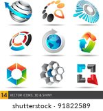 collection of abstract vector... | Shutterstock .eps vector #91822589