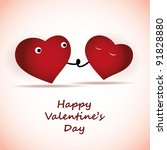 valentine's day card | Shutterstock .eps vector #91828880