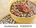 A Bowl Of Black Eye Peas Or...