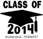mortar board graduation cap for ... | Shutterstock .eps vector #91836557