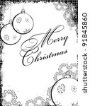 black white christmas design... | Shutterstock .eps vector #91845860