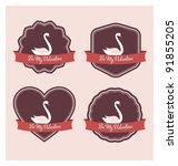 Valentines Day Labels   Retro...