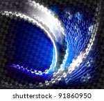 abstract design tech background | Shutterstock . vector #91860950