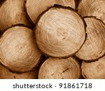 Pile Of Sawed Pine Wood  Duo...