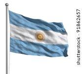 flag of argentina   Shutterstock . vector #91862657