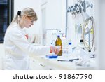 female researcher carrying out... | Shutterstock . vector #91867790